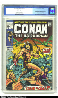Conan The Barbarian #1 (Marvel, 1970) CGC VF+ 8.5 Off-white to white pages. Origin and first appearance of Conan by Barr...