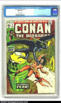 Conan The Barbarian #9 (Marvel, 1971) CGC NM+ 9.6 Off-white pages. Barry Smith classic in fantastic condition. Overstree...