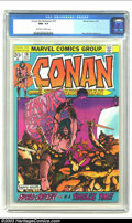 Bronze Age (1970-1979):Superhero, Conan The Barbarian #19 (Marvel, 1972) CGC NM+ 9.6 Off-white to white pages. Beautiful book in high-grade. Barry Smith art. ...