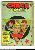 Golden Age (1938-1955):Superhero, Crack Comics #53 and 56 (Quality, 1948) Condition: GD/VG. Overstreet 2003 value for group = $96 ... (Total: 2 Comic Books Item)