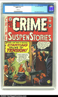 Crime SuspenStories #2 (EC, 1950) CGC FN/VF 7.0 White pages. You just never see ECs from 1950 with white pages! This is...
