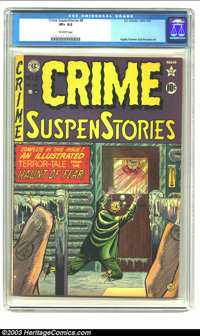 Crime SuspenStories #7 (EC, 1951) CGC VF+ 8.5 Off-white pages. The only copies grading higher than this one on CGCs cens...