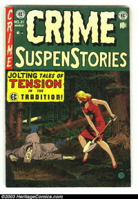Crime SuspenStories #21 (EC, 1954) Condition: FN+. Fantastic EC horror book. Overstreet 2003 FN 6.0 value = $45. From th...