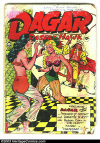 Dagar, Desert Hawk #19 (Fox Features Syndicate, 1948) Condition: FR. Sexy artwork and pre-code gore make for an exciting...
