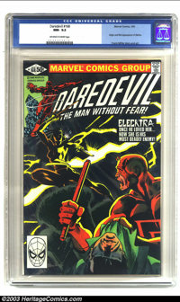 Daredevil #168 (Marvel, 1981) CGC NM- 9.2 Off-white to white pages. Origin and first appearance of Elektra; Frank Miller...