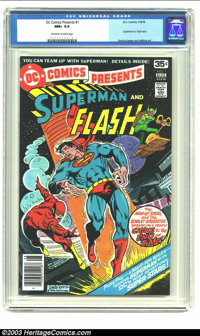 DC Comics Presents #1 (DC, 1978) CGC NM+ 9.6 Off-white to white pages. Superman vs. Flash race. Of the 37 copies of this...