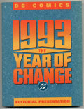 Modern Age (1980-Present):Miscellaneous, DC 1993 The Year Of Change (DC, 1993) Condition = FN/VF. This large trade paperback is an editorial presentation which inclu...