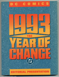 DC 1993 The Year Of Change (DC, 1993) Condition = FN/VF. This large trade paperback is an editorial presentation which i...