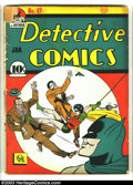 Golden Age (1938-1955):Superhero, Detective Comics #47 (DC, 1941) Condition: FR/GD. Bob Kane cover and art. Cover detached, centerfold detached. Overstreet 20...