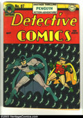 Golden Age (1938-1955):Superhero, Detective Comics #87 (DC, 1944) Condition: VG. Dick Sprang art. White out top spine. Overstreet 2003 VG 4.0 value = $182. ...