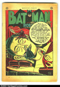 Golden Age (1938-1955):Superhero, Detective Comics #136 and #142 (DC, 1948) Condition: coverless. Both issues feature Batman and Robin, Siegel and Shuster's S...
