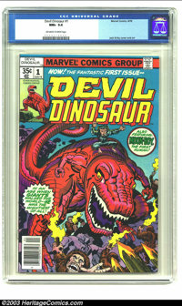 Devil Dinosaur #1 (Marvel, 1978) CGC NM+ 9.6 Off-white to white pages. First issue by Jack Kirby. Overstreet 2003 NM 9.4...