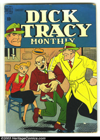 Dick Tracy Monthly Group (Dell, 1949) Condition: average VG+. This lot consists of issues #13 and 84. Bondage cover on #...