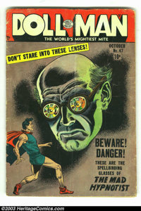 "Doll Man #47 (Quality, 1953) Condition: GD+. Includes ""Torchy"" story by Gil Fox; last issue of the series. Ove..."