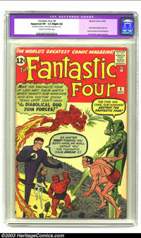 Fantastic Four #6 (Marvel, 1962) CGC Apparent VF- 7.5 Slight (A) Cream to off-white pages. First Marvel villain team up...