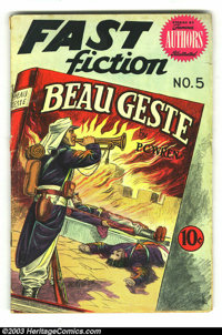 Fast Fiction #5 Beau Geste (Seaboard Pub., 1950) Condition: GD/VG. Adaptation of the classic Beau Geste by P.C. Wren, il...