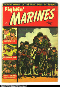 Fighin' Marines #4 (St. John, 1951) Condition: GD. Matt Baker art, partial Baker cover. Cover detached. Overstreet 2003...