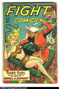 Fight Comics #57 (Fiction House, 1948) Condition: VG-. Tiger Girl, and Kayo Kirby by Matt Baker. Overstreet 2003 VG 4.0...