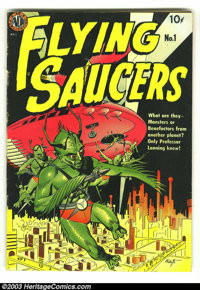 Flying Saucers #1 (Avon, 1950) Condition: VG+. First version with Wally Wood art and a Fawcette cover. Overstreet 2003 V...