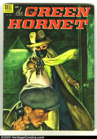 Four Color #496 The Green Hornet (Dell, 1953) Condition: VG-. Painted cover. Cover has multiple pock-marks over entire s...