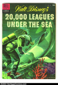 Four Color #614 20,000 Leagues Under the Sea (Dell, 1954) Condition: FN. Classic Shark cover. Overstreet 2003 FN 6.0 val...