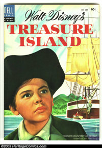 Four Color #624 Treasure Island (Disney Movie) (Dell, 1955) Condition: VF/NM. Photo cover. Overstreet 2003 VF/NM 9.0 val...