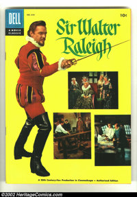 Four Color #644 Sir Walter Raleigh (Movie) (Dell, 1955) Condition: VF/NM. Photo cover in fantastic condition. Overstreet...