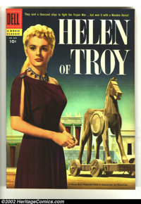Four Color #684 Helen of Troy (Movie) (Dell, 1956) Condition: VF/NM. Beautiful photo cover. John Buscema artwork. Overst...