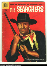 Four Color #709 The Searchers Starring John Wayne (Dell, 1956) Condition: GD+. Adaptation of the classic John Ford/John...
