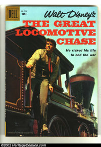 Four Color #712 The Great Locomotive Chase (Movie) (Dell, 1956) Condition: VF/NM. Great Disney photo cover in fantastic...