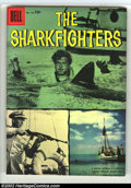Silver Age (1956-1969):Adventure, Four Color #762 The Sharkfighters (Movie) (Dell, 1957) Condition: VF/NM. Great photo cover. Overstreet 2003 VF/NM 9.0 value ...
