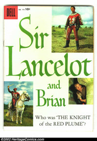 Four Color #775 Sir Lancelot and Brian (TV) (Dell, 1957) Condition: FR/GD. Spine is totally split, otherwise quite nice...