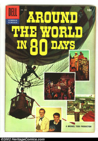 Four Color #784 Around the World in 80 Days (Movie) (Dell, 1956) Condition: VF+. Photo cover. Overstreet 2003 VF 8.0 val...