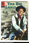Silver Age (1956-1969):Western, Four Color #812 The Big Land (Movie) (Dell, 1957) Condition: VF. Alan Ladd photo cover. Overstreet 2003 VF 8.0 value = $73....