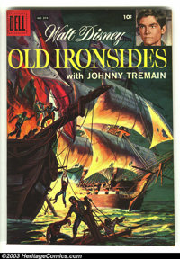 Four Color #874 Old Ironsides (Movie) (Dell, 1958) Condition: VF. Overstreet 2003 VF 8.0 value = $53. From the collectio...