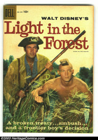 Four Color #891 Light in the Forest (Movie) (Dell, 1958) Condition: FN+. Fess Parker photo cover Western. This book is t...