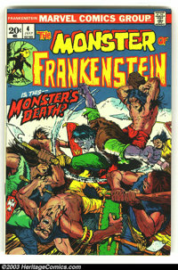 Frankenstein LOT (Prize, 1973) Condition: averages VF/NM. Beautiful Mike Ploog artwork. Issues #4-6 and 8. Overstreet 20...