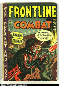 Frontline Combat #1 (EC, 1951) Condition: GD+. Severin art, Kurtzman cover. Overstreet 2003 GD 2.0 value = $59