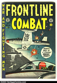 Frontline Combat #8 (EC, 1952) Condition: VG+. Fantastic Air Force cover. Overstreet 2003 VG 4.0 value = $35. From the c...