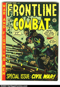Frontline Combat #9 (EC, 1952) Condition: VG/FN. Overstreet 2003 VG 4.0 value = $35. From the collection of Bobby Harmon...