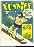Golden Age (1938-1955):Humor, Funnies #17 (Dell, 1938) Condition: GD+. Alley Oop cover. Captain Easy, Dan Dunn, Major Hoople, Mutt and Jeff, many others. ...
