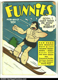 Funnies #17 (Dell, 1938) Condition: GD+. Alley Oop cover. Captain Easy, Dan Dunn, Major Hoople, Mutt and Jeff, many othe...