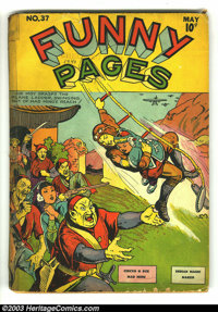 Funny Pages #37 (Centaur, 1940) Condition: GD. Mad Ming cover. The Arrow featured. Spine taped. Overstreet 2003 GD 2.0 v...