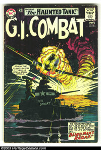 G.I. Combat Group (DC, 1952). This lot consists of issues #104 (GD), #109 (VG-), and #121 (VG+). Terrific covers include...