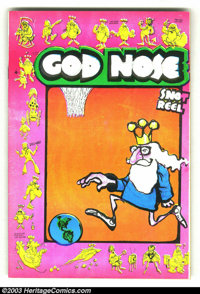 God Nose #1 Second Print (Rip Off Press, 1969) Condition = FN+. This obscure classic belongs in every underground comix...