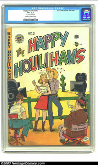 The Happy Houlihans #2 (EC, 1948) CGC VG- 3.5 Cream to off-white pages. Here is a very rarely seen, early EC. Overstreet...