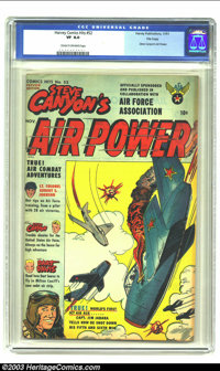 Harvey Comics Hits #52 File Copy (Harvey, 1951) CGC VF 8.0 Cream to off-white pages. Steve Canyon's Air Power; Milton Ca...