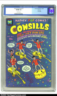 Harvey Pop Comics #1 File copy (Harvey, 1968) CGC VF/NM 9.0 Off-white pages. Features the Cowsills. Overstreet 2003 VF/N...