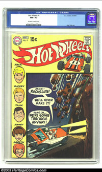 Hot Wheels #4 (DC, 1970) CGC NM- 9.2 Off-white to white pages. Alex Toth art. Overstreet 2003 NM 9.4 value = $60