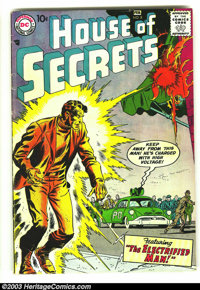House of Secrets #8 (DC, 1958) Condition: VG+ 4.5. Featuring the Electrified Man; Kirby art. Overstreet 2003 VG 4.0 valu...